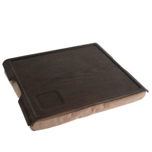Bandeja de apoyo para sofá de color marrón