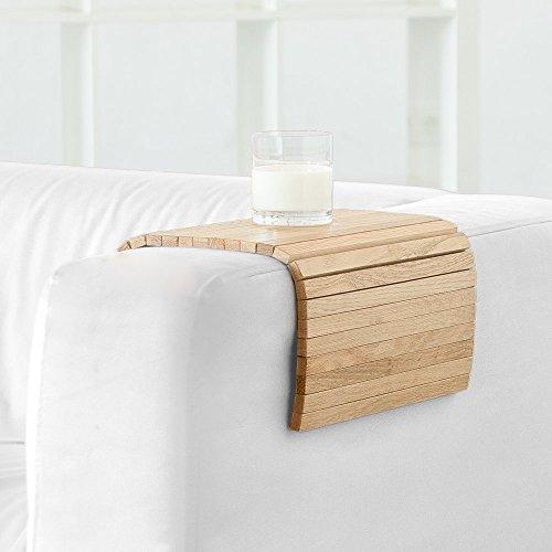 Bandeja de sofá flexible hecha de madera maciza