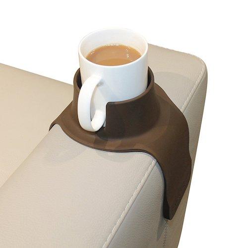 Bandeja para sofá porta copa marrón