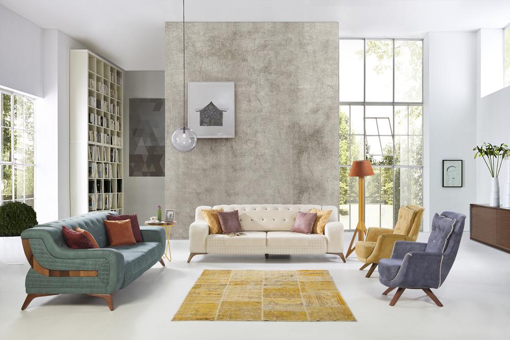 Combinar dos sofás diferentes