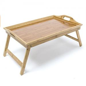 Bandeja de bambú natural para sofá