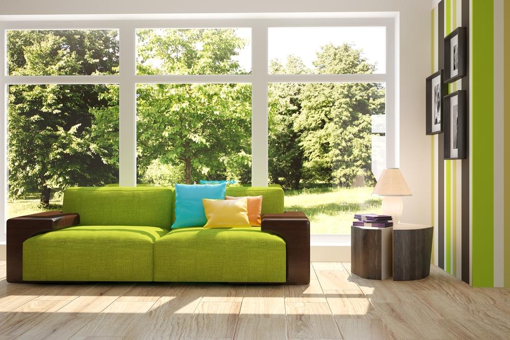Como combinar un sofá verde