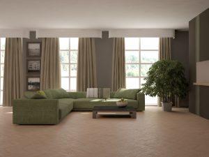 Ideas para combinar un sofá verde oscuro